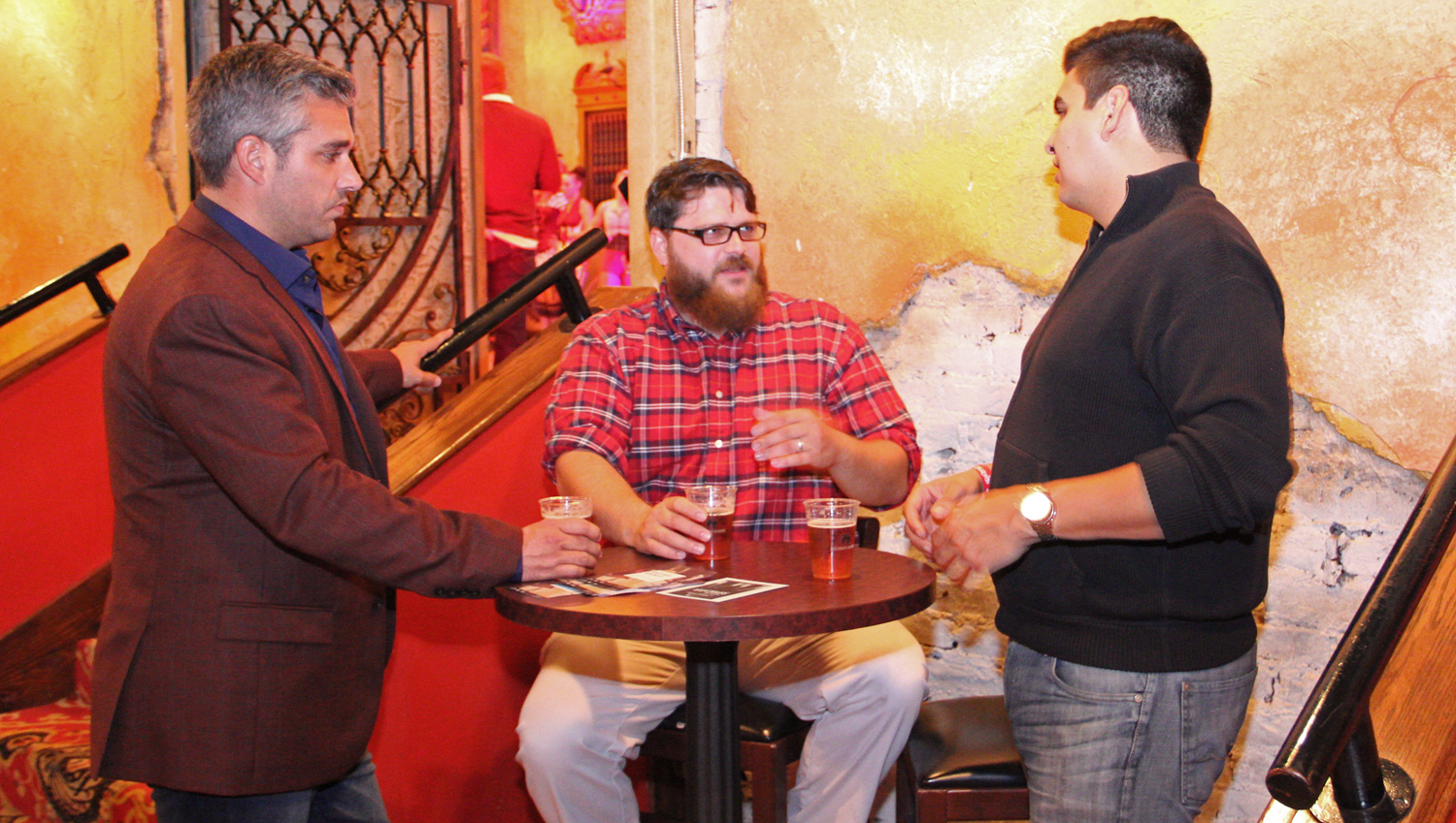 Jason Schmidt, Thomas Bolton with Maker's Mark and Luke Flint