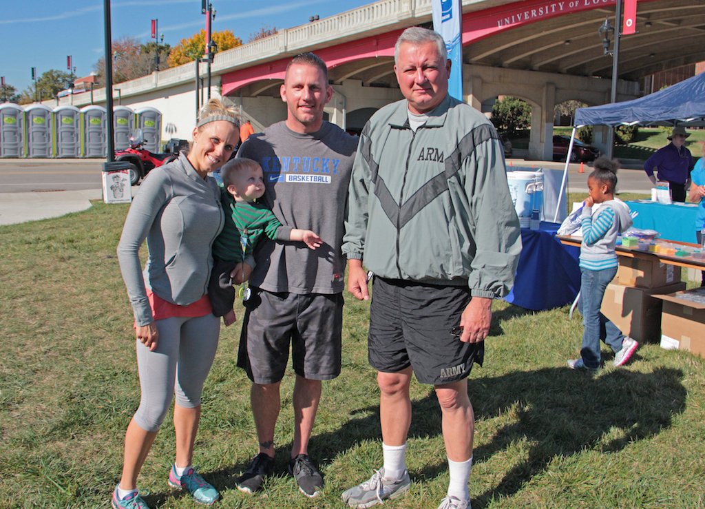 Kent, Amanda & Grey Driscoll with Kent Crossley, Executive Director of Centerstone Military Services