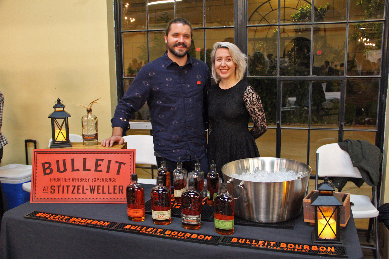 David Doolittle and Molly Cochran with Bulliet Distillers