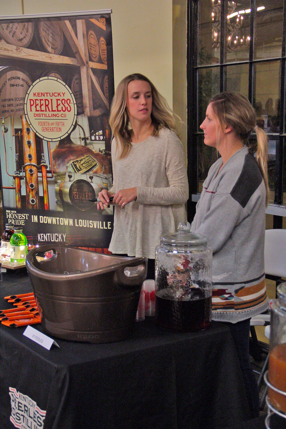 Hayley Routt and Hayley Hoback with Peerless Distilling