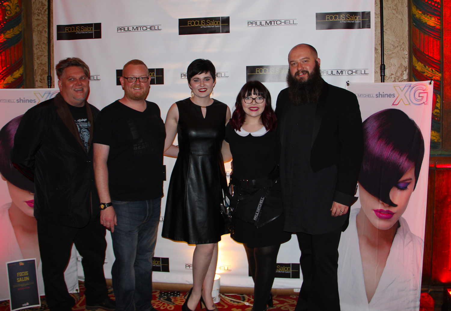 The staff of Paul Mitchell Focus Salon on Baxter Avenue http://www.focussalonhighlands.com/ Kim Austin, David Barringer Tyler -Ann Merritt, Lindset Couch Lucas Meyer