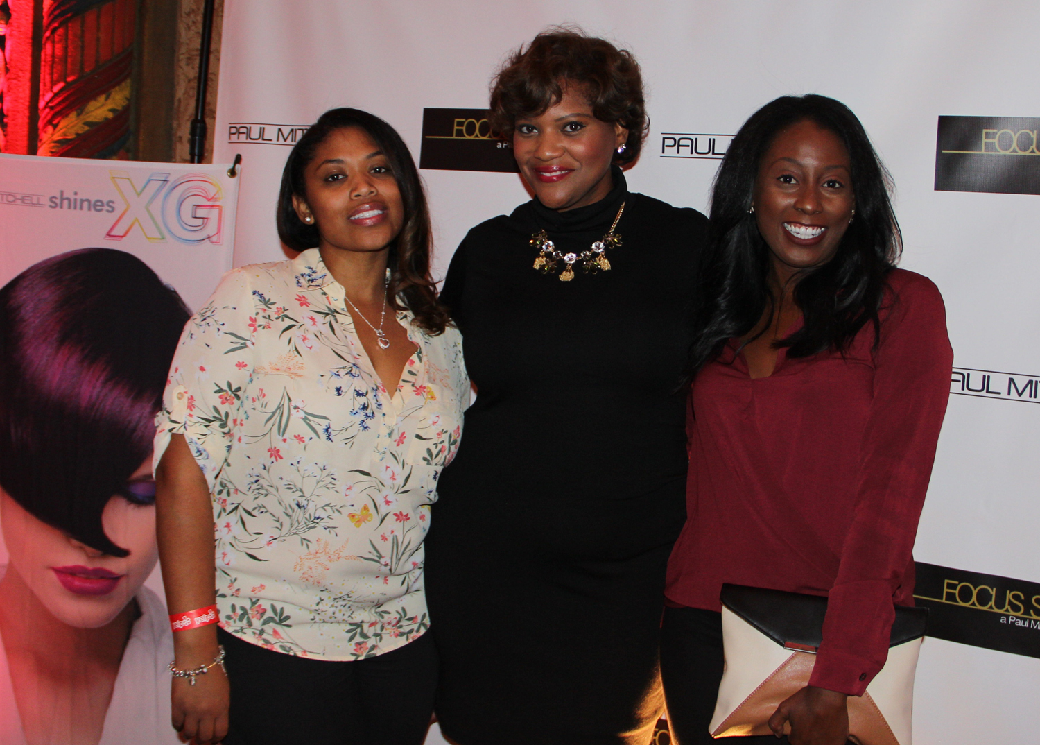 Charisse White, Bridget Dale, Christy Evedi. Beauty celebrating art.