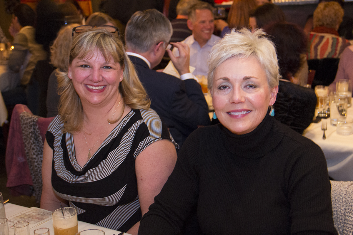 Gail Wade and Becky Hammond. Bourbon and beauty - a great combination!