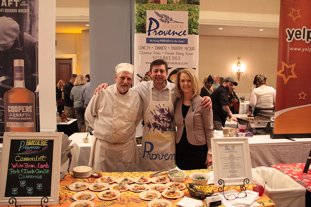 David Mattingly, Guy Genoud andStacy Duncan with Brasserie Provence