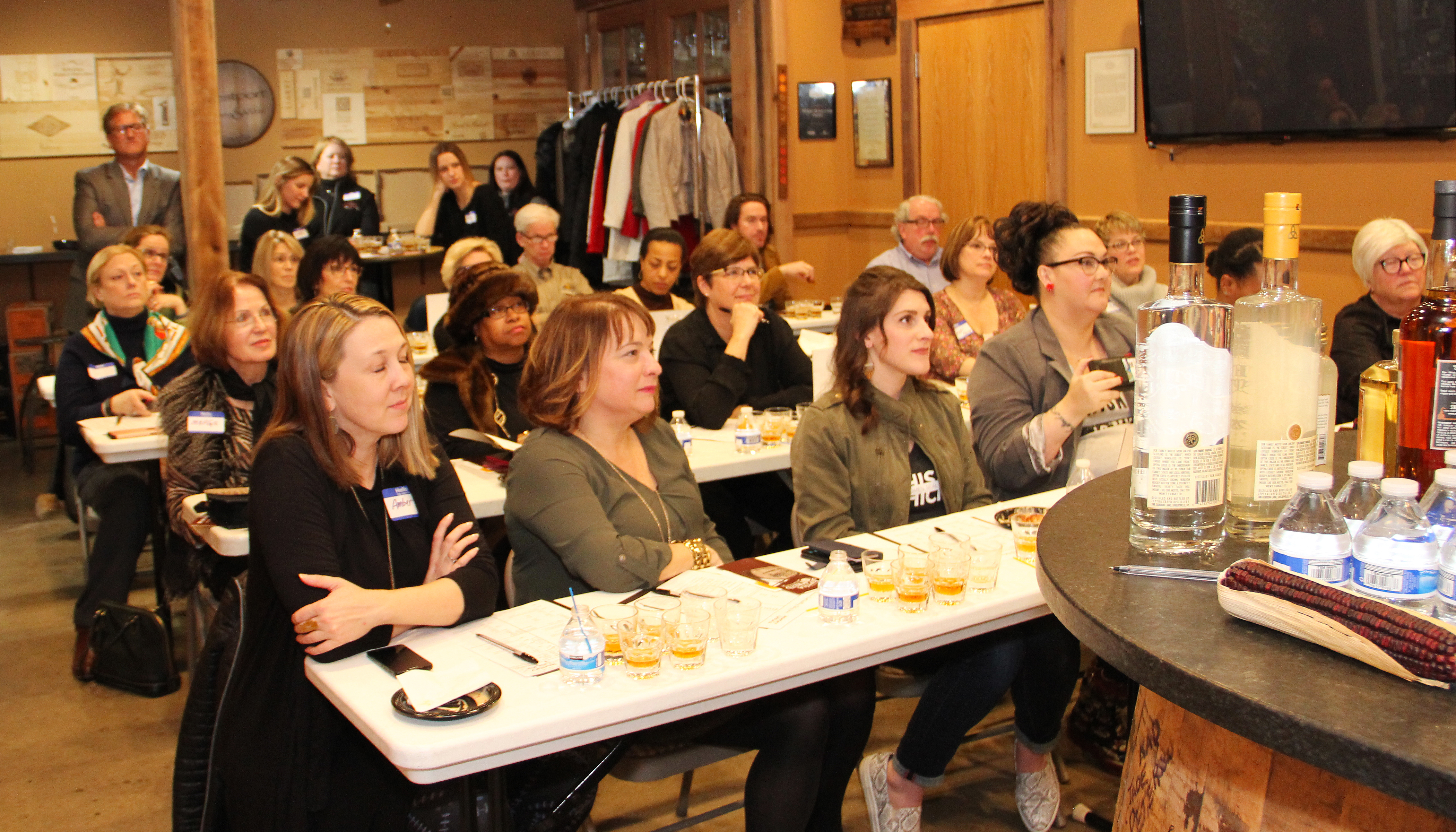 There was a sold-out crowd for the Craft Distillers tasting