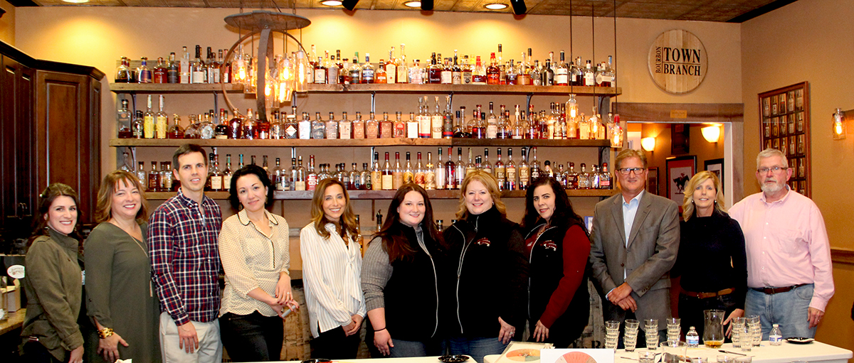 Nancy Bohn, Marketing Director for Whiskey Chicks, Linda Ruffenach, Founder, Cameron Talley, Veronica Stivers and Heather Bass with Rabbit Hole, Autumn Nethery , Joyce Nethery and Alicia White with Jeptha Creed, Ted and Dana Huber with Starlight Distillery and Chris Zaborowski