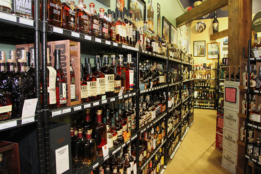 An amazing selection of bourbons in one place