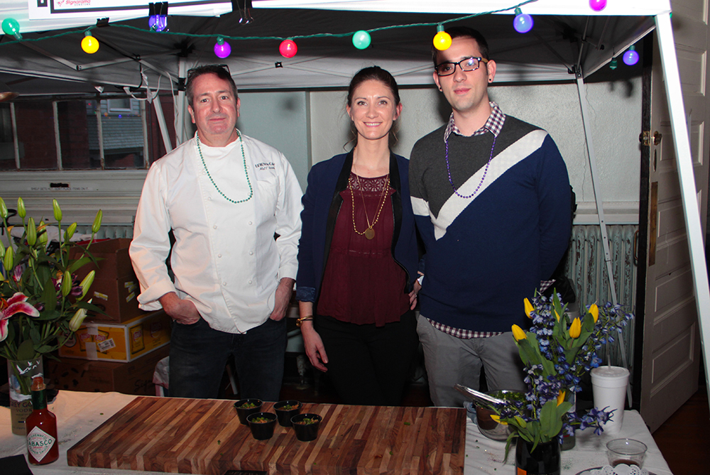 Christopher Montgomery, Matt Weber and Monica Skanks with Uptown Cafe