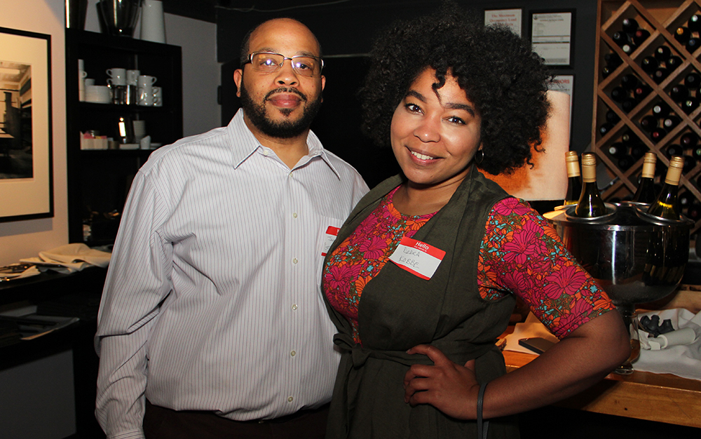 Dedra McDowell and Jamar Mack with KOBBE; Kentucky's first African-American bourbon enthusiast club