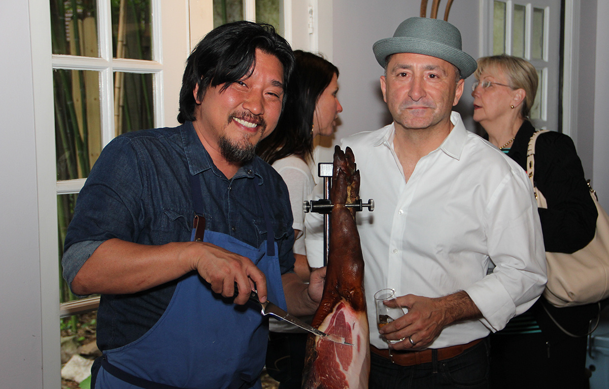 Chef Lee and Kaveh Zamanian