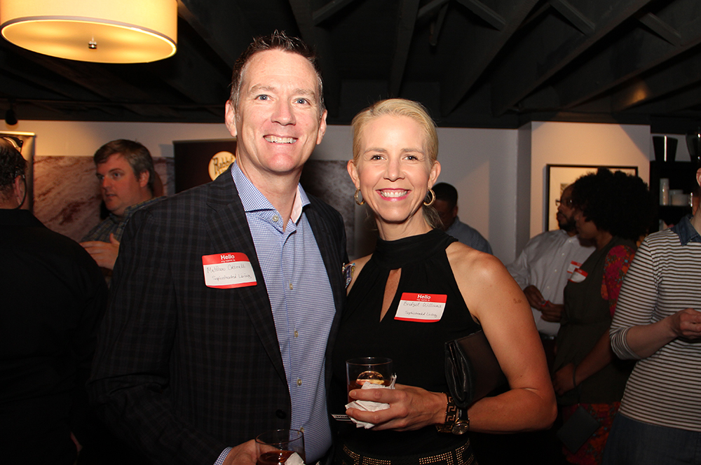 Matthew Cottrell and Bridgette Williams with Sophisticated Living Magazine