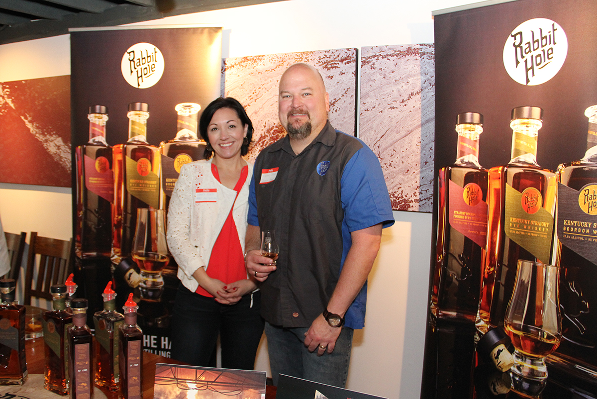 Veronica Stivers and Brian Gelfo with Rabbit Hole Distillery - sponsors of the event
