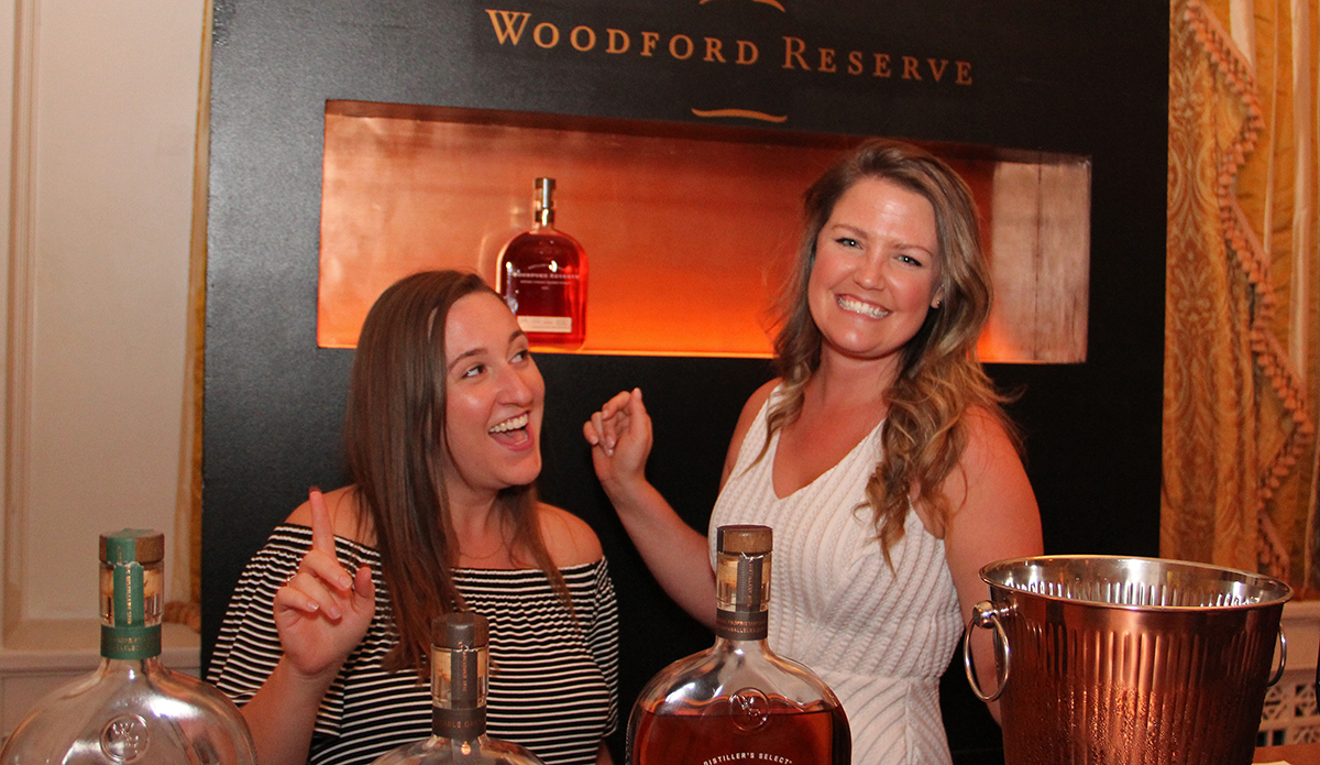 Casey Hawkins and Sarah Reed with Woodford Reserve