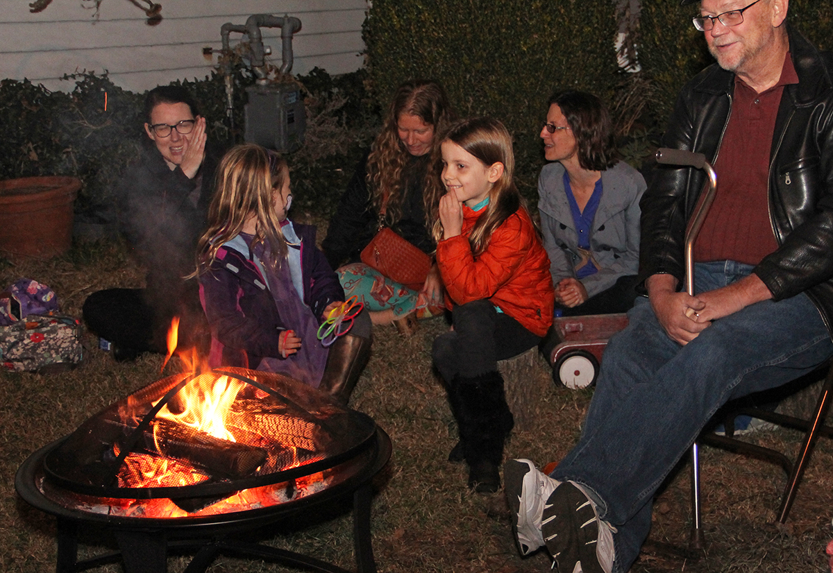Momma's Hip owner, Shannon Stone Porter had a fire pit set up and serenaded the kids