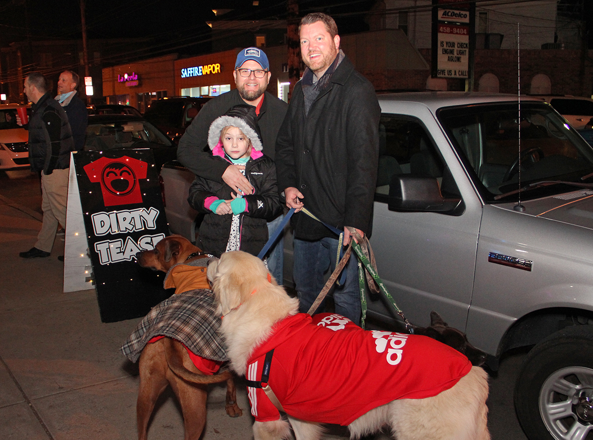John, G and Jeff Letterman with the pup crew